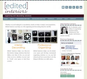 Edited Interiors Website by Sweet Smart Design