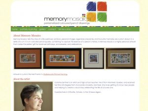 Memory Mosaics Website by Sweet Smart Design